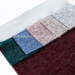 Soft and thick multi colors knit brushed polar fleece polyester rayon spandex fabric
