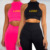 CUSTOM New Solid Color Fashion two piece women clothing Sexy Yoga Sport Top Long Sleeve Gym Wear Women