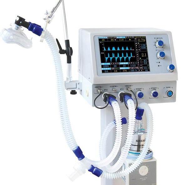 PUAO PA-700B quality ICU mobile ventilator w/ air compressor - KingCare   KingCare.net