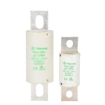 Yinrong 750V dc auto Fuse 125A 150A 200A fast automotive fuse good quality bolt down ev fuse link