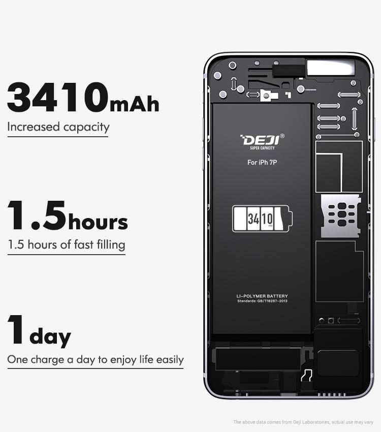 Литий-ионный аккумулятор deji для iphone 7 plus, литий-ионный аккумулятор для iphone 7 plus 7
