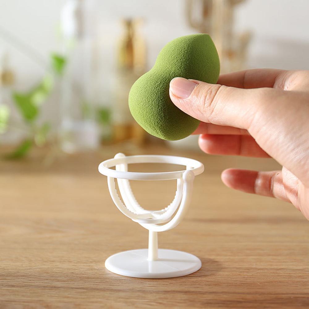 Двойной вращающийся стеллаж для хранения, сушилка для красоты яиц, антиплесеновая пудра, хлопковый держатель, подставка, косметический держатель для губки для яиц