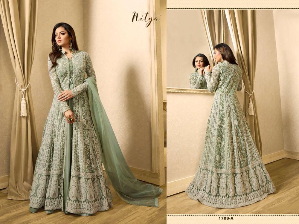 Pakistani ladies Net suits embroidery salwar kameez suit