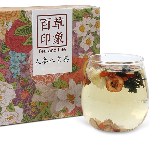 American ginseng Huang jing Red jujube herbal health tea for sleep - 4uTea | 4uTea.com