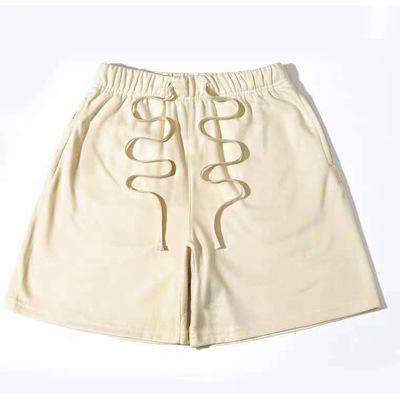 Summer Casual Beach Shorts Men Women 1:1 Yellow Red Gray Breechcloth Hip Hop Drawstring Shorts