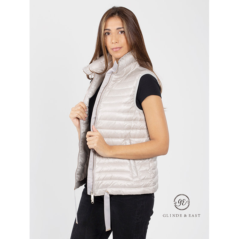 2020 New Arrivals Factory Price Single color Ultra Light Fashion Goose Ladies Down Vest