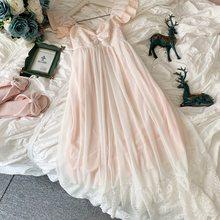 Нежные летние белые кружевные Хлопковые женские ночные рубашки без рукавов в винтажном стиле, женские свободные длинные пижамы, сексуально...(Китай)