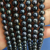 wholesale freshwater white black pearl strands good luster round shape very clean surface