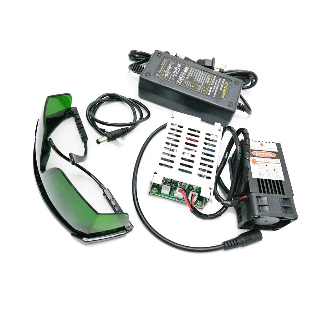 Регулируемый фокус хорошая теплоотдача металлическая маркировка 15 Вт 450 нм 33 мм лазерный гравировальный модуль