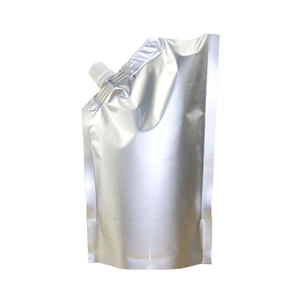 aluminum film flat bottom heat seal pouch bag for beverages