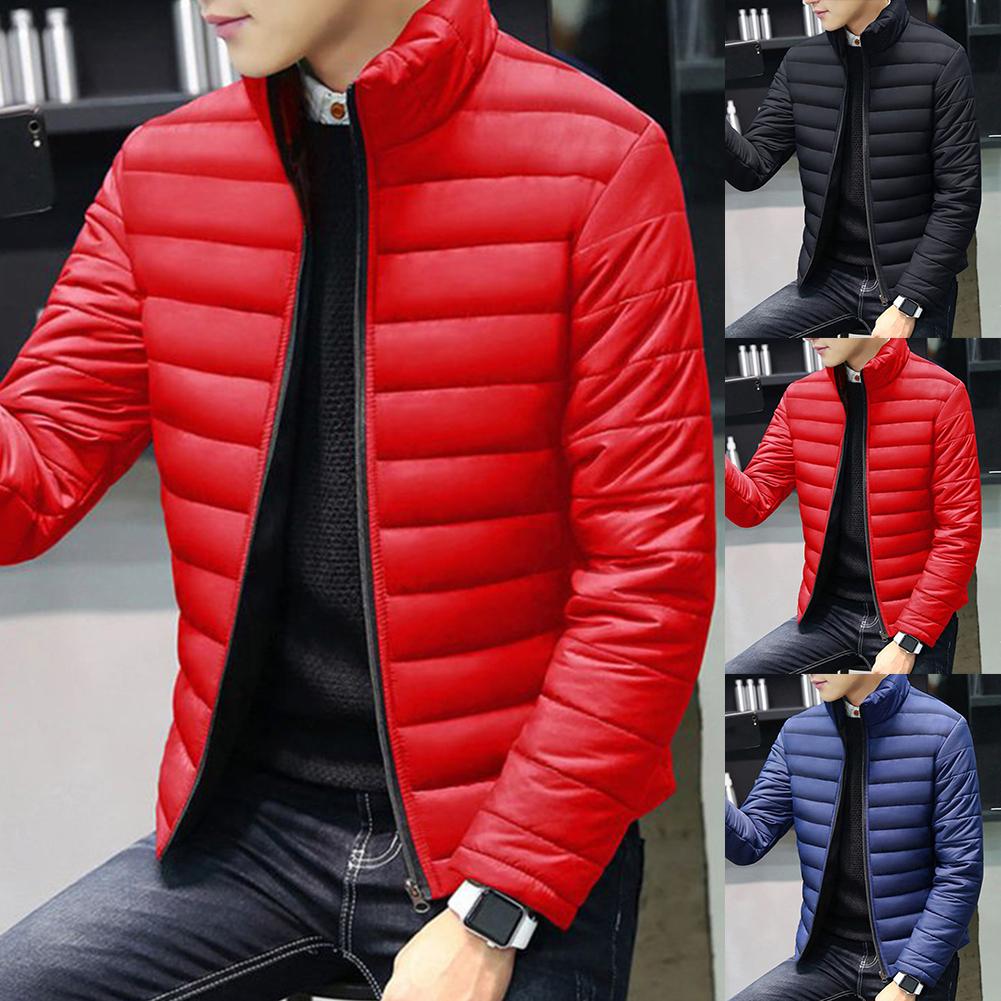 Nueva chaqueta cálida de algodón de manga larga para