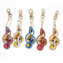 HOMFUN 5D Алмазный брелок для ключей, специальная подвеска с вышивкой из горного хрусталя, наборы для рукоделия, аксессуары для ключей с крестик...(Китай)