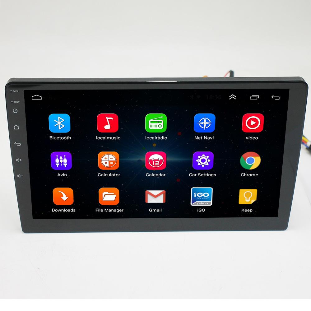 9 дюймов HD сенсорный экран двойной 2 дин MP5 плеер ПК с системой андроида и с gps-навигацией FM/AUX-IN аудио радио