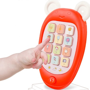 Wholesale plastic baby toys infant early learning smart toys mini phone musical mobile baby