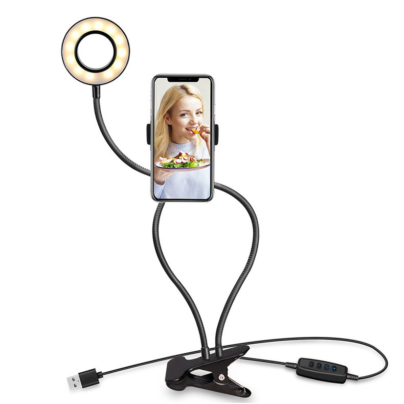 2020 Photo Studio Selfie LED Ring Light with Cell Phone Mobile Holder tripod stand for Youtube Live Stream Makeup Camera Lamp