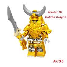 Одиночная продажа ниндзя кирпич Железный барон Ллойд гармадон мастер золотой дракон жевательная игрушка Wu (подростковый) морда Harumi Nya строи...(Китай)