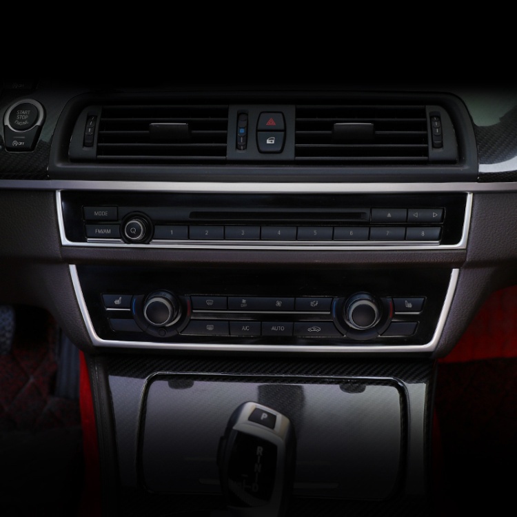 Suitable for 11-17 BMW 5 Series modified center control panel strip U-shaped decorative stickers
