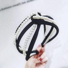 Красочные Широкие Preal повязки с узелком для женщин аксессуары для волос, Корея банты для волос цветок корона жемчуг повязки для волос повязк...(Китай)