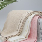 Luxury 65% Bamboo Fiber 35% Cotton Hemp Round Face Towel New Design