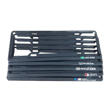 Factory Hot Selling Anti Carbon Fiber Car Custom Logo Plastic Number License Plate Frame National Standard General
