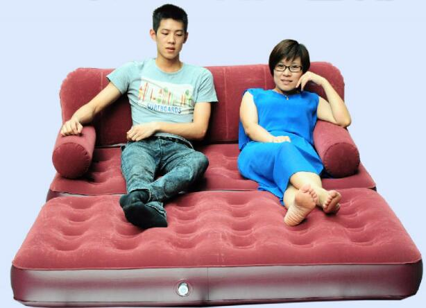 Home furniture inflatable air sofa 5 in 1 sofa bed inflatable air bed sofa