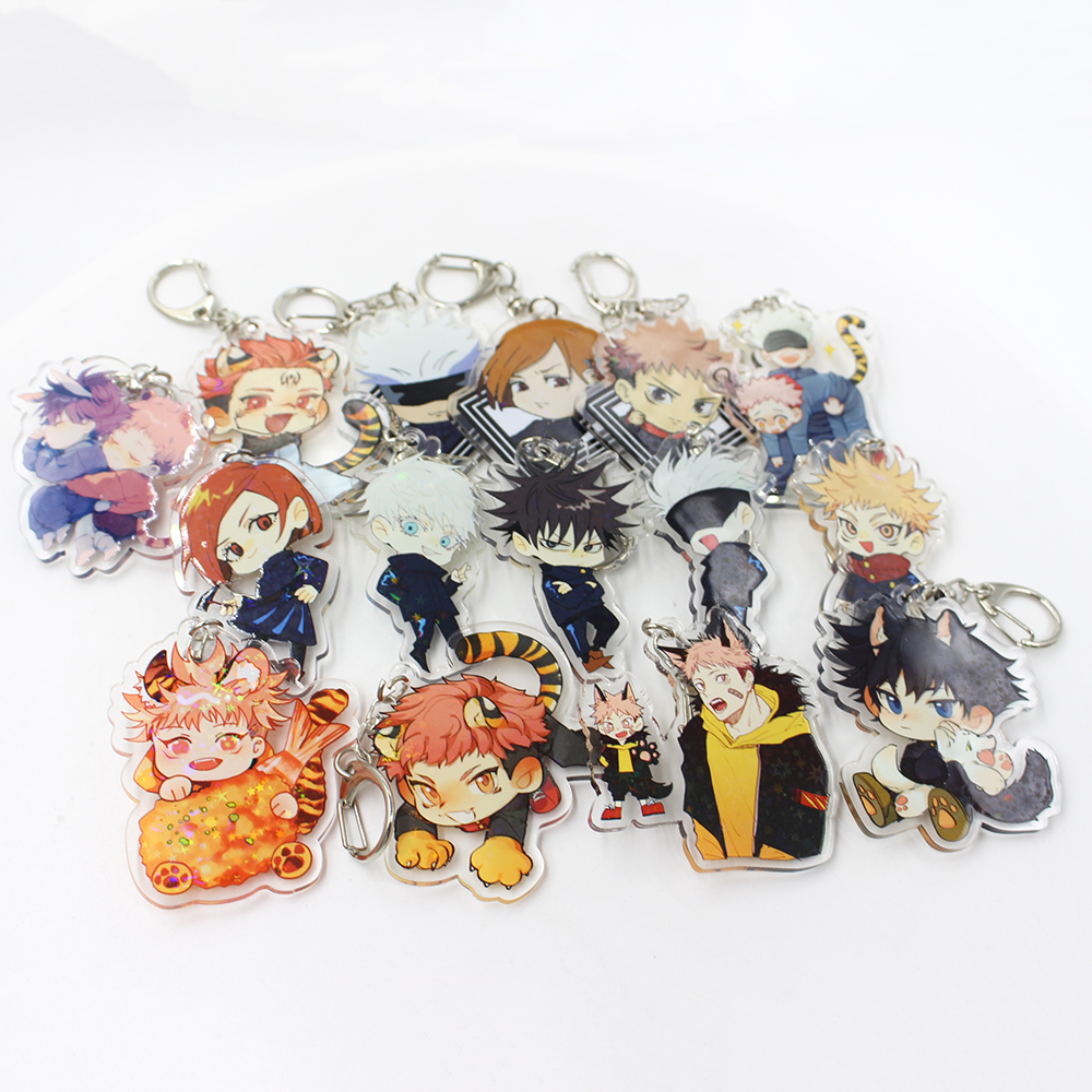 New Products Design Figure Key Chain Personalized Custom Printed Metal Keychain Acrylic Anime Jujutsu Kaisen