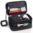 Make up Bag Portable Double Layer Travel Cosmetic Bag Pouch Travel Makeup Pouch Storage Organiser