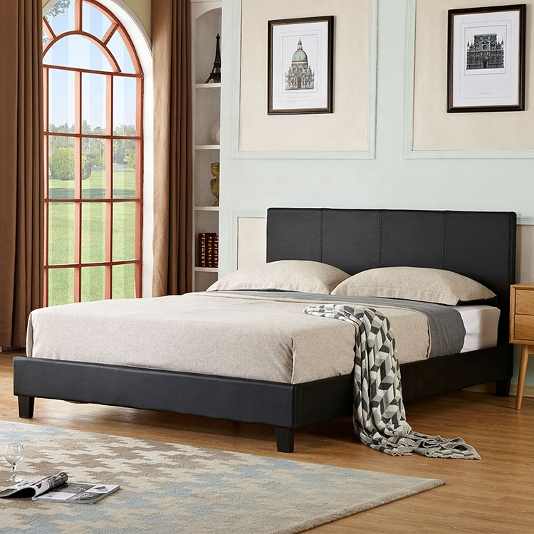 prodo competitive price beds bedroom furniture wholesale simple designs pu or pvc cheap beds