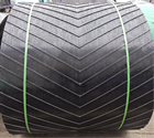 Belt CHINA FACTORY PATTERN RUBBER CONVEYOR BELT MULTIPLE V CHEVRON BELT FOR BULK MATERIAL HANDLING