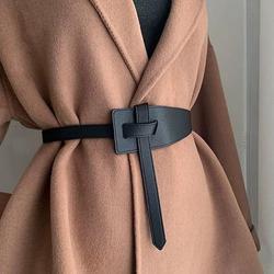 Женский ремень для юбки, широкий пояс из искусственной кожи для вечернего платья, тонкий пояс для женщин