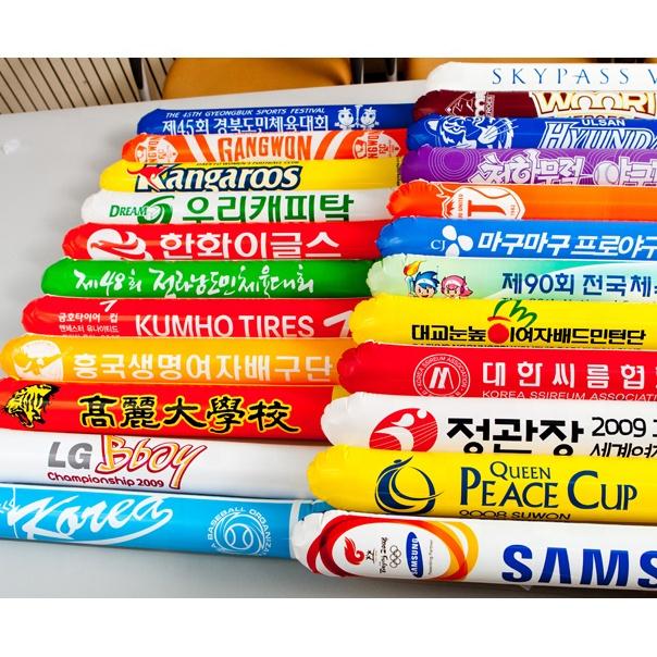 Надувные приветствие Придерживайтесь воздушном шаре Шумелка изготовленный на заказ логос напечатал Сделано в Корее ручка челки balloonstix