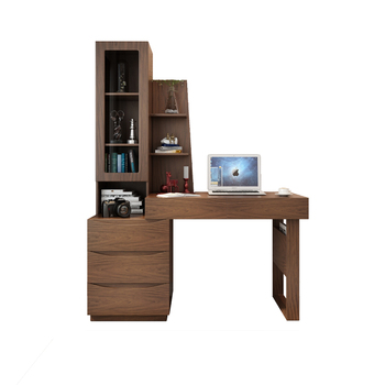 Modern style computer desk with shelf wooden writing desk study table