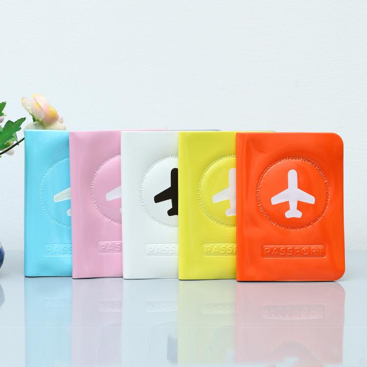 Привлекательные красочные блестящие прозрачные ПВХ жидкие гелевые дорожные аксессуары Обложка для паспорта OEM