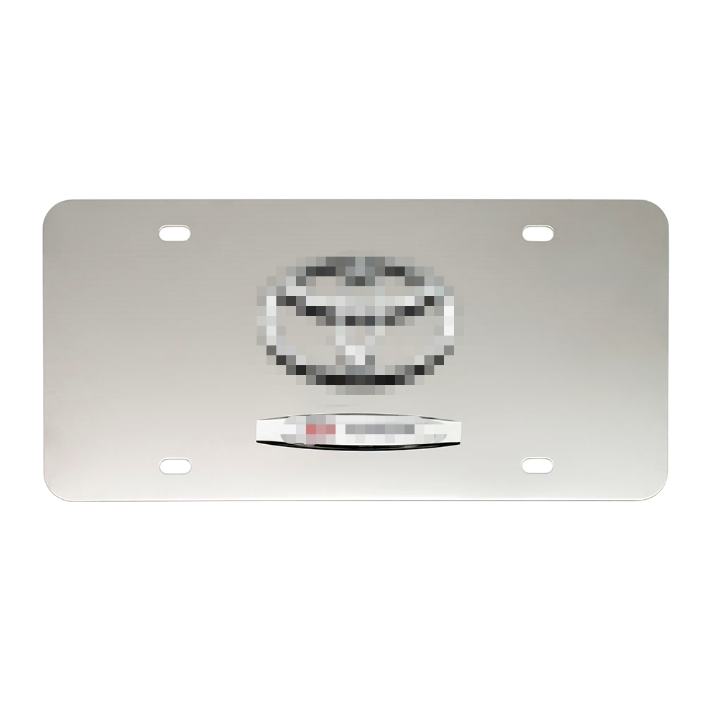 License Plate with Logo Size Decorative Stainless Steel USA Decoration License Frame Custom Designs 31*16cm