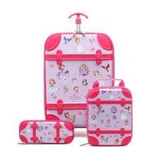 Новинка 2019, Детская сумка на колесиках с 3D рисунком, детский рюкзак, рюкзак для девочек, разноцветный, на выбор, сумка на колесиках, можно под...(Китай)