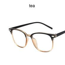 Классические мужские квадратные оправы для очков, винтажные Модные женские декоративные оптические очки, прозрачные оправа для очков, одно...(Китай)