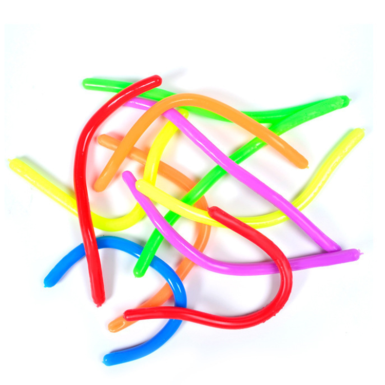 Wholesale Kids Tpr Stretch Toy Stretchy Noodles Rope Diy Anti Stress Toys Fidget Stress Reliever Toy