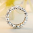 Band Cz Eternity Ring Band Solid Silver 925 Rhodium Ring White Gold Wedding Band Baguette Diamond Cz Eternity Band