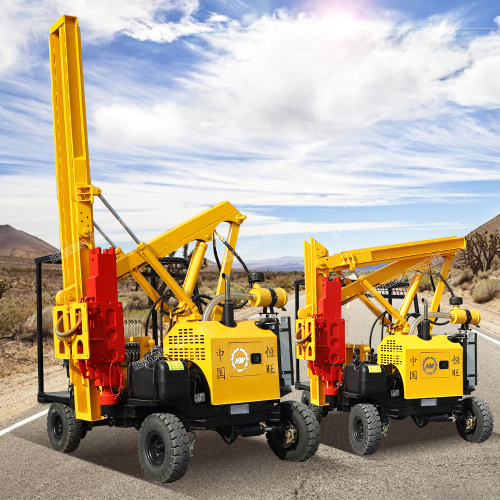newest Pile Driving Equipment,Pile Driving Machine Side Grip Post Driver