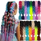 Dropshipping Jumbo Ombre Braiding Hair For Box Crochet Braids Hair 100 % x pression Synthetic Braiding Hair Extensions 24 inch