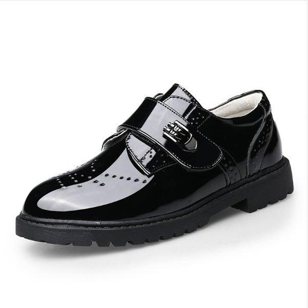 Новая модель детских кожаных туфель, официальная обувь для мальчиков, Классическая обувь