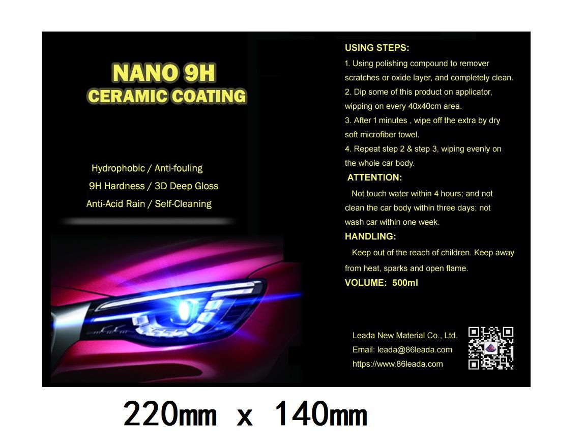 Wholesale price  Nano Crystal Coating, Quartz Coating, Car Ceramic Coating Kit 30 ml-9H Paint Sealant for car