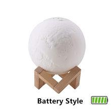 Увлажнитель воздуха Арома-диффузор 880 мл 3D светильник с Луной 10 мл эфирное масло USB Ультразвуковой ночной очиститель прохладного тумана для ...(Китай)