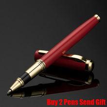 Хит продаж, деловая Мужская металлическая чернильная авторучка, офисная, офисная, палисандр, цветная авторучка для письма, купить 2 ручки, по...(Китай)
