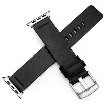 Оригинальный ремешок из натуральной кожи для Apple Watch 6, 5, 4, 3, спортивные часы, ремешок, быстросъемный браслет 38, 40, 42, 44 мм, разъем(Китай)