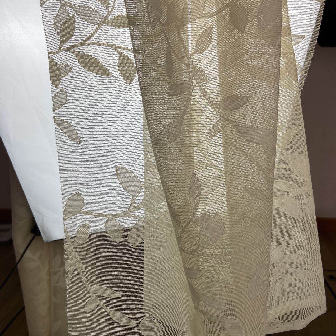 Factory Supply white knit lightweight polyster mesh Voile Living Room sheer curtain fabric