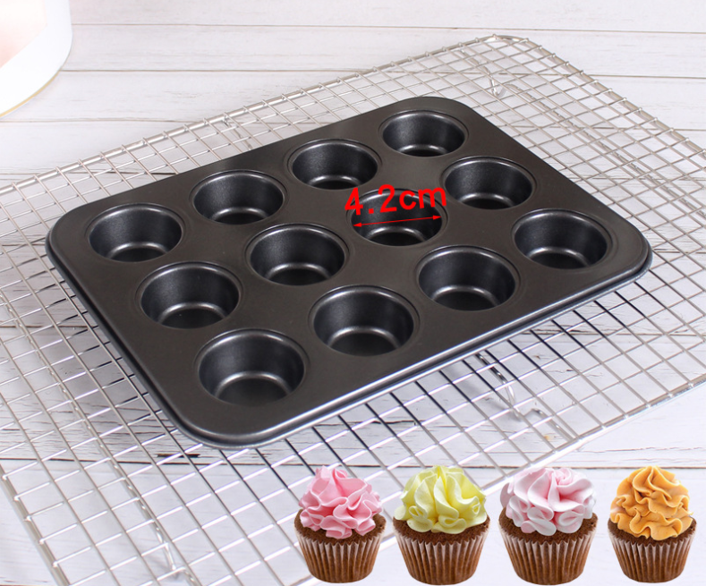 12pc cupcake mould non stick muffin pan Baking Mold
