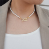 Pearl Necklace Gold 444
