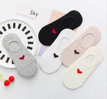 5 пара/лот новые женские носки хлопковые мягкие дышащие носки повседневные удобные носки до щиколотки модные высококачественные()
