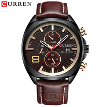 2019 мужские часы лучший бренд класса люкс CURREN военные аналоговые кварцевые часы мужские спортивные наручные водонепроницаемые 30 м(Китай)